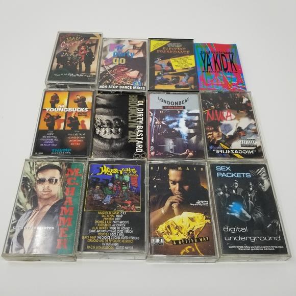 Lot of 12 80's & 90's Hip Hop Cassette Tapes
